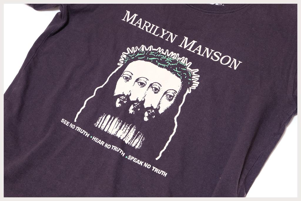 マリリンマンソン Tシャツプリントアップ