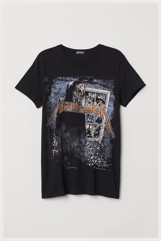 H&M オンラインストア限定メタリカTシャツ1