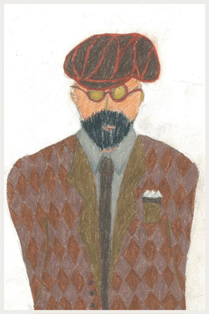 花田優一さんが描いた男性